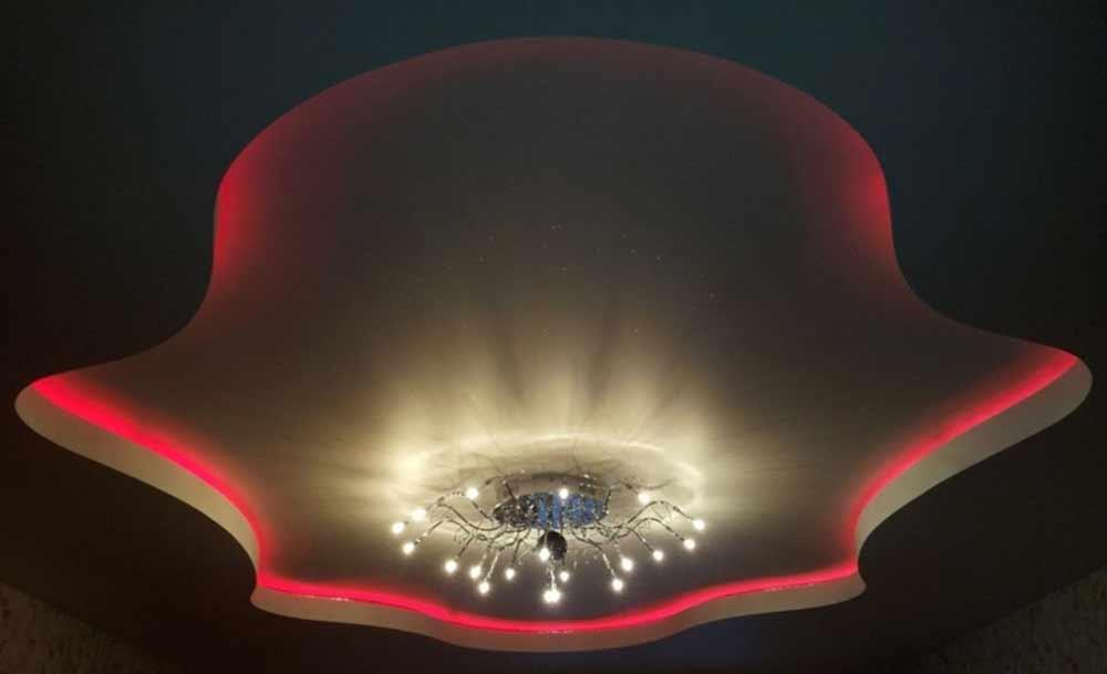 Натяжные потолки с подсветкой отзывы